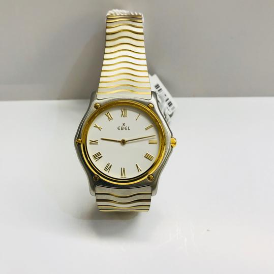 Ebel Classic White Dial Ebel Wave 18K and Stainless