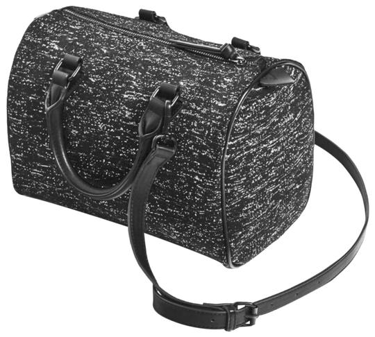 Preload https://img-static.tradesy.com/item/22410878/zara-marled-fabric-bowling-black-polyester-satchel-0-1-540-540.jpg