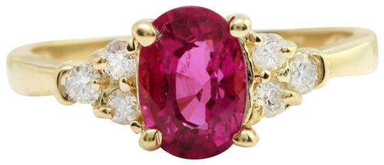 Preload https://img-static.tradesy.com/item/22410941/14k-yellow-gold-235-ctw-natural-pink-tourmaline-and-diamond-in-ring-0-1-540-540.jpg
