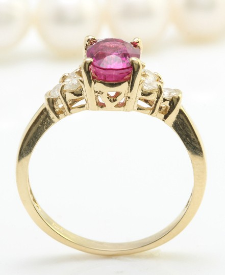 Other 2.35 CTW Natural PINK TOURMALINE and DIAMOND in 14K Yellow Gold Ring
