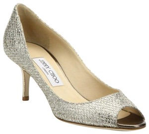 Jimmy Choo Lame Isabel 65mm Isabel Luna gold or champagne Formal