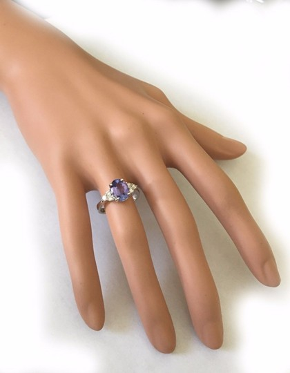 Other 3.00CT Natural Blue Tanzanite and DIAMOND in 14K Solid White Gold Ring
