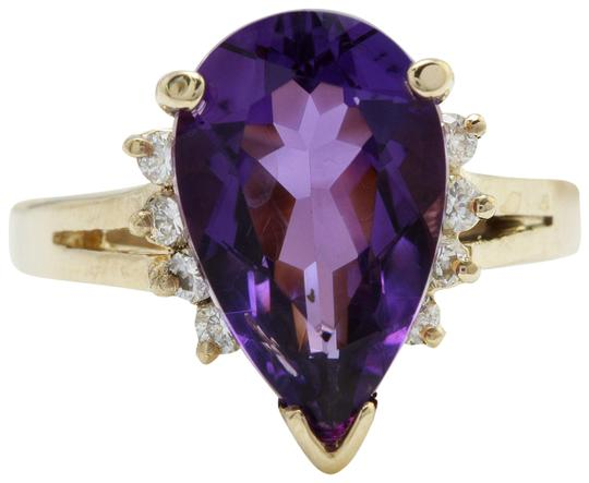 Preload https://img-static.tradesy.com/item/22410999/14k-yellow-gold-425-ctw-natural-amethyst-and-diamonds-in-solid-ring-0-1-540-540.jpg