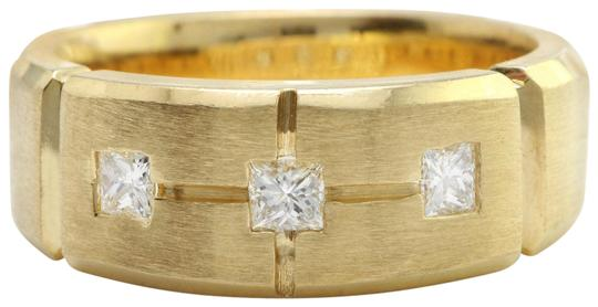 Other .19CTW Natural Princess Cut DIAMONDS in 14K Solid Yellow Gold Ring