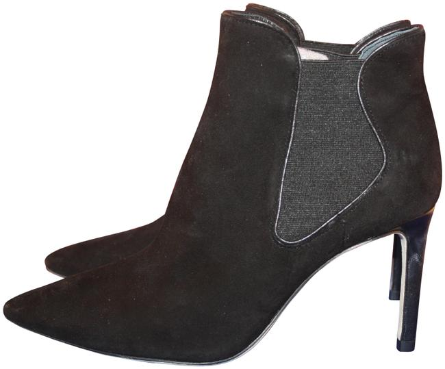 Tory Burch Black Dorset Lancaster Suede and Elastic 32158685 Boots/Booties Size US 6.5 Regular (M, B) Tory Burch Black Dorset Lancaster Suede and Elastic 32158685 Boots/Booties Size US 6.5 Regular (M, B) Image 1