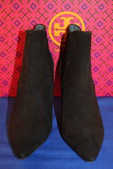 Tory Burch Suede Elastic Black Boots