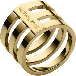 Michael Kors Michael Kors MKJ4053 Barrel Ring Polished Gold Tone