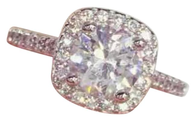 Item - Diamond Silver 925 1.5 Ct Silver Engagement Ring