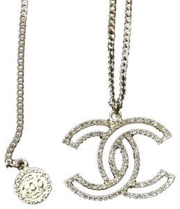 Chanel Chanel 15p Gold Metal Crystal Necklace Cc Logo 100 anniversary