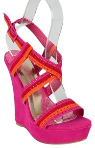 Society of Chic Pink & Orange Wedges
