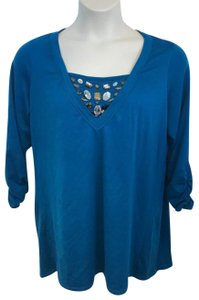 Style & Co Top Teal