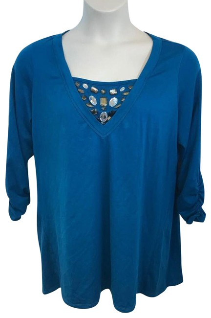Preload https://img-static.tradesy.com/item/22411185/style-and-co-teal-style-and-co-woman-embellished-1x-blouse-size-20-plus-1x-0-2-650-650.jpg