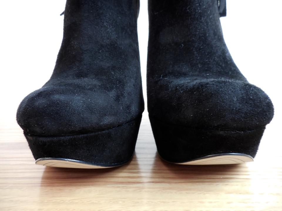 2cc9f0b11a9 Boutique 9 Jeweled Heel Platform Suede Jeweled Heels Black Boots Image 9.  12345678910