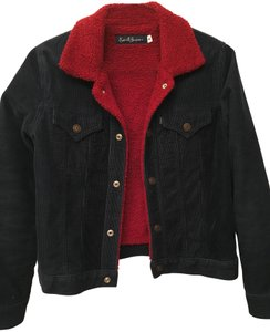 Earl Jean Corduroy Sherpa Faux Fur navy, red Jacket