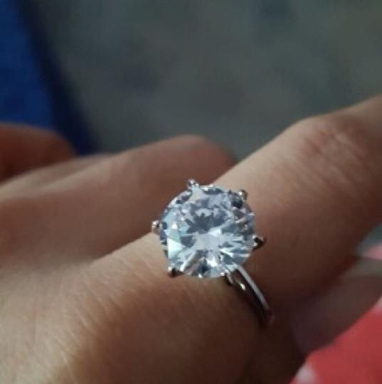 9.2.5 5ct Silver Stamped Engagement Proposal Diamind Cz Silver Diamond Ring