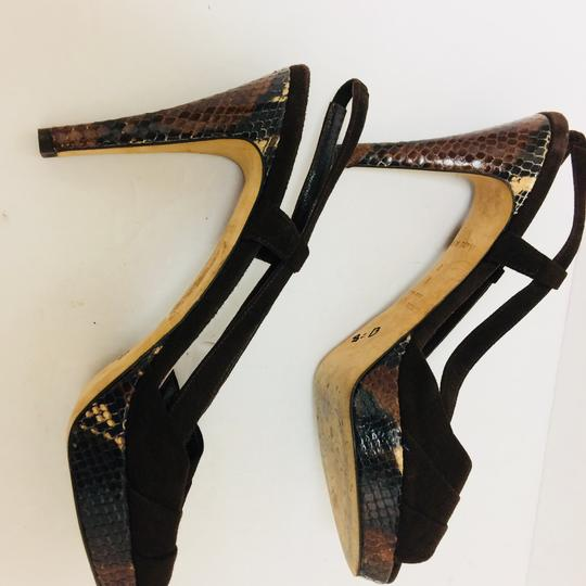Kate Spade Suede And Python Slingbacks Python Made In Italy brown Sandals