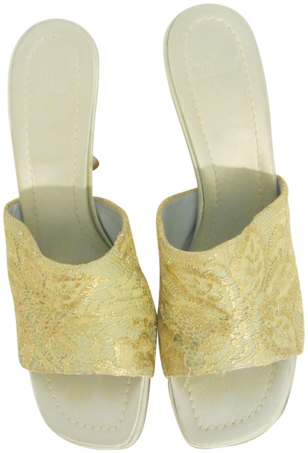 Item - Blue and Lace Satin Heels Formal Shoes Size EU 39 (Approx. US 9) Narrow (Aa, N)