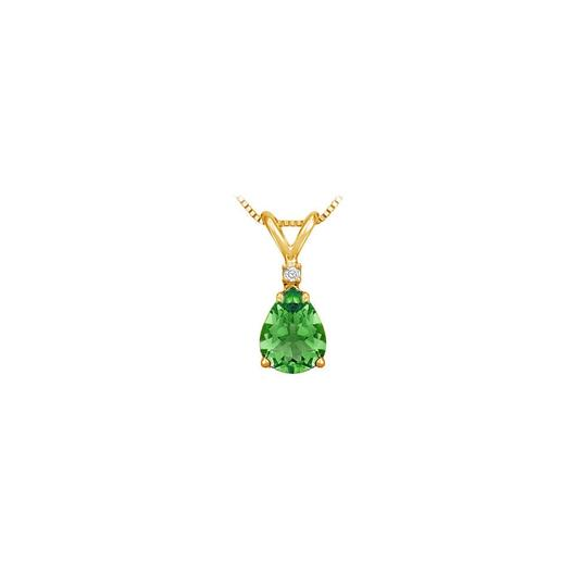 Preload https://img-static.tradesy.com/item/22411628/green-yellow-may-birthstone-emerald-teardrop-pendant-with-cubic-zirconia-in-gold-ve-necklace-0-0-540-540.jpg