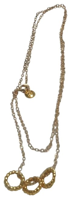 Item - Gold 3 Ring Necklace