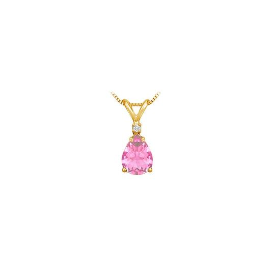 Preload https://img-static.tradesy.com/item/22411688/pink-yellow-september-birthstone-created-sapphire-teardrop-pendant-with-cubic-necklace-0-0-540-540.jpg