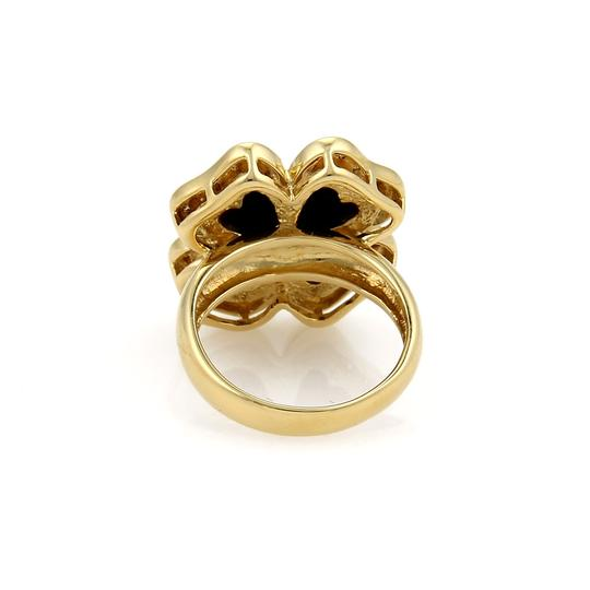 Other Diamond & Onyx Floral 18k Gold Ring
