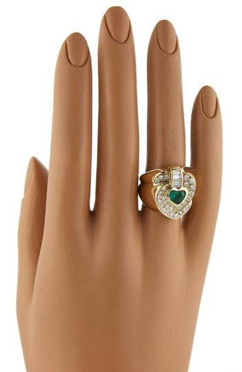 Other Fancy Heart 1.80ct Diamond & Emerald 18k Gold Ring