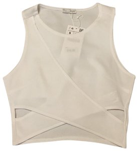 Zara Cut-out Top white