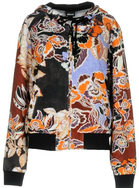 Just Cavalli Floral Logo Soft Fleece Sweatshirt