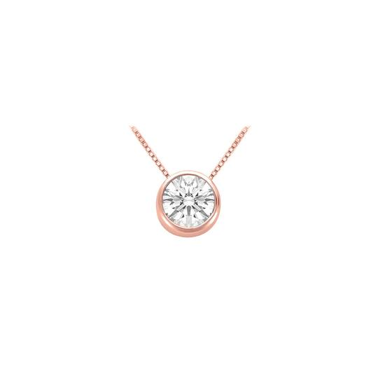 Marco B April Birthstone Cubic Zirconia Pendant in 14K Rose Gold Vermeil over