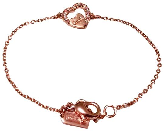 Coach Rosegold Heart Necklace