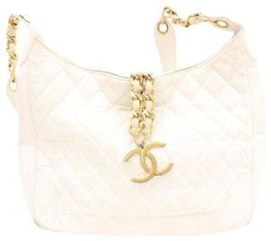 Chanel Hobo Classic Quilted Fringe Tassle Shoulder Bag