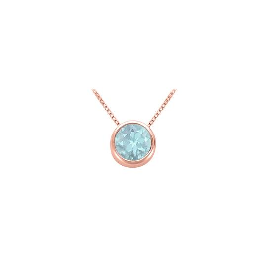 Preload https://img-static.tradesy.com/item/22411972/blue-rose-100-carat-aquamarinemarch-birthstone-bezel-pendant-in-14k-gold-necklace-0-0-540-540.jpg