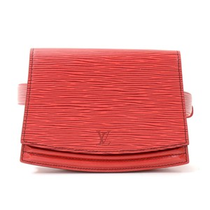 Louis Vuitton Epi Leather Front Flap Satchel in Red