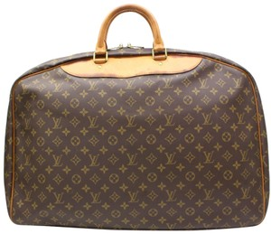 Louis Vuitton Alize Poches Heures Keepall Kendall Brown Travel Bag