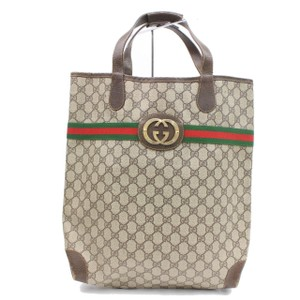 Gucci Sherry Shelly Shirly Web Tote in Brown