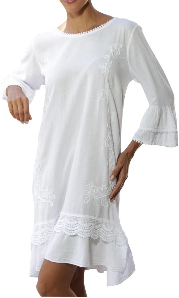 59f4a741bfd Lirome short dress White Embroidered Cottage Chic Summer Beach on Tradesy  Image 0 ...