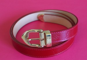 Louis Vuitton Red monogram Vernis patent leather Louis Vuitton belt