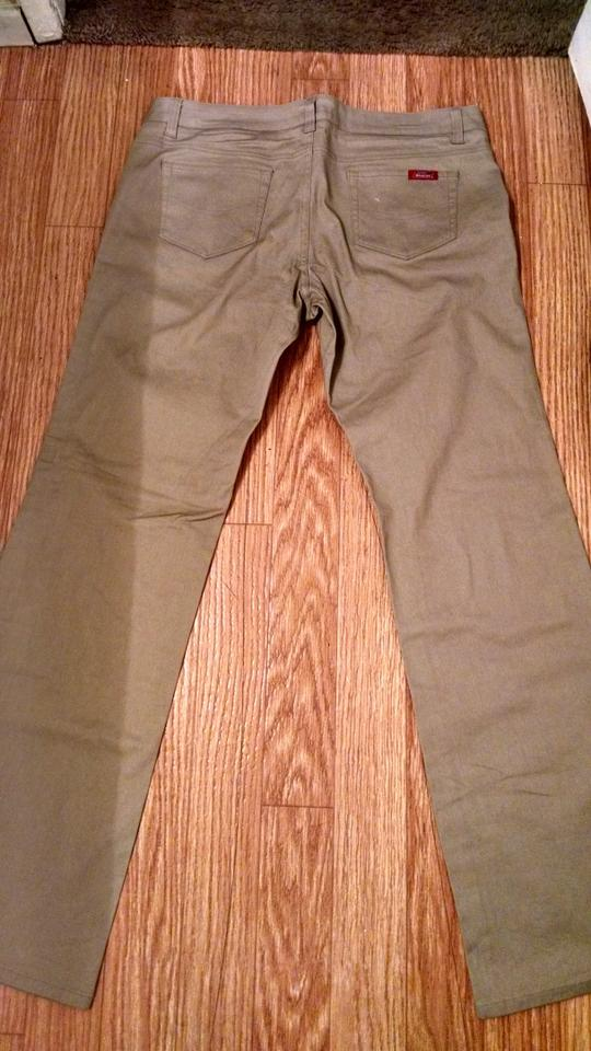 1e7d4cfdaf0 Dickies Khaki Women s Slim Fit Straight Leg Bootcut Stretch Twill Pants  Size 14 (L