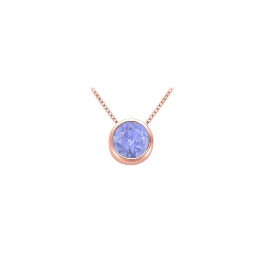 Preload https://img-static.tradesy.com/item/22412177/blue-rose-100-carat-tanzanitedecember-birthstone-bezel-pendant-in-14k-gold-necklace-0-0-540-540.jpg