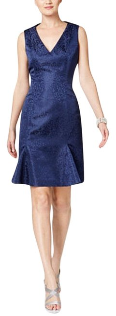 Item - Saphire Blue V-neck Flare Sheath Short Formal Dress Size 2 (XS)