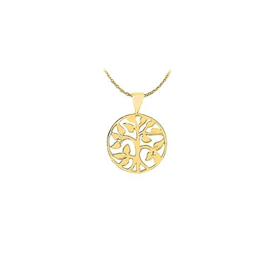 Marco B Amazingly Designed 18K Yellow Gold Vermeil Floral Circle Pendant