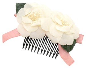 Chanel Chanel White Camellia Hair Comb CG240