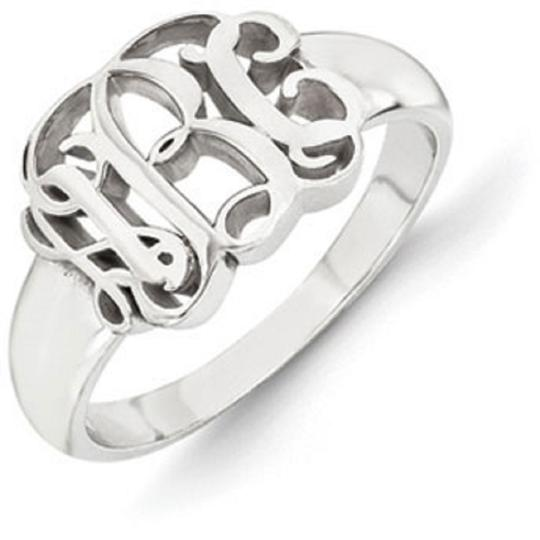 Apples of Gold Sterling Silver Monogram Ring