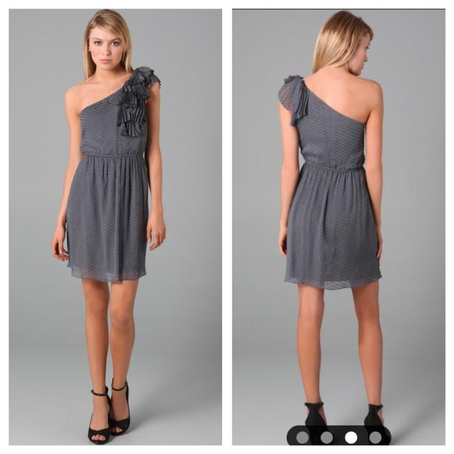 Preload https://img-static.tradesy.com/item/22412589/rebecca-taylor-grey-one-shoulder-silk-ruffle-mid-length-cocktail-dress-size-0-xs-0-0-650-650.jpg