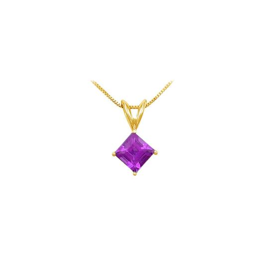 Preload https://img-static.tradesy.com/item/22412649/purple-yellow-february-birthstone-amethyst-square-pendant-in-gold-vermeil-over-925-necklace-0-0-540-540.jpg