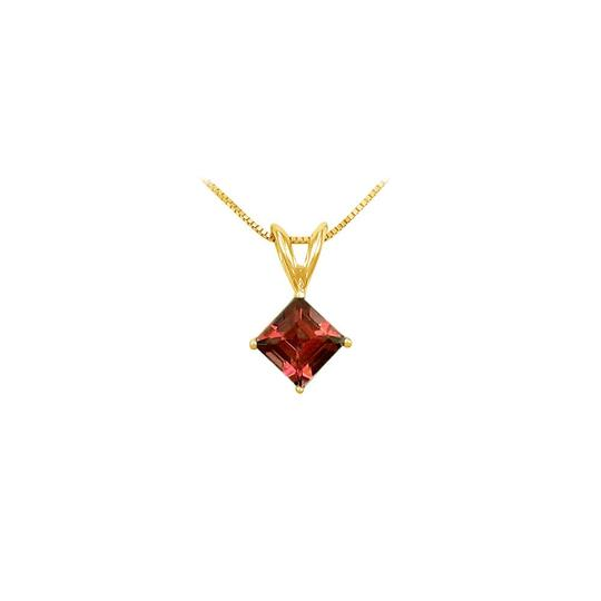 Preload https://img-static.tradesy.com/item/22412676/red-yellow-january-birthstone-garnet-square-pendant-in-gold-vermeil-over-925-necklace-0-0-540-540.jpg