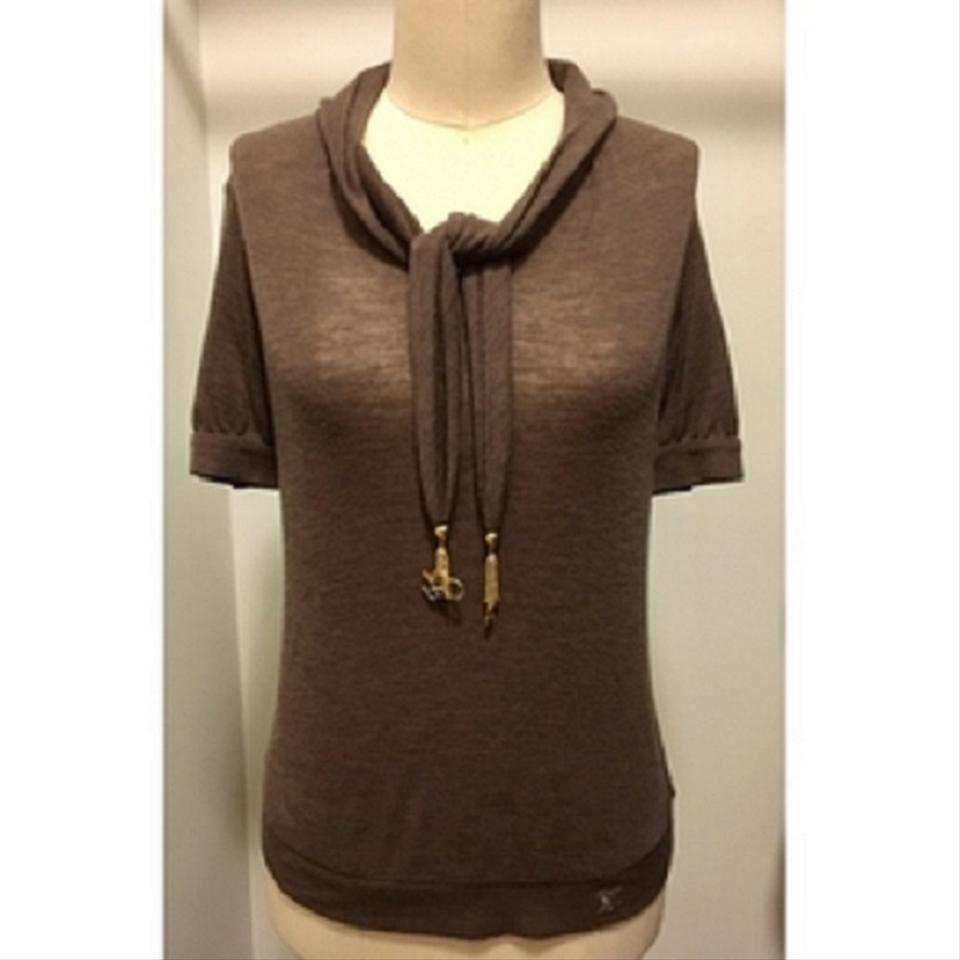 louis vuitton pullover top brown on tradesy. Black Bedroom Furniture Sets. Home Design Ideas