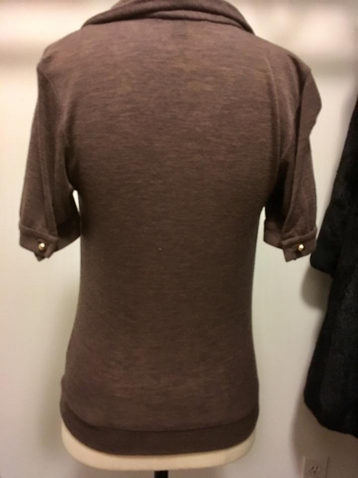 louis vuitton brown pullover night out top size 0 xs. Black Bedroom Furniture Sets. Home Design Ideas