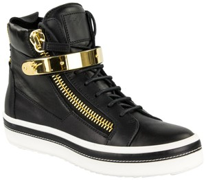 Giuseppe Zanotti Men Boots Sneakers High-top Sneaker Made In Italy Black Athletic