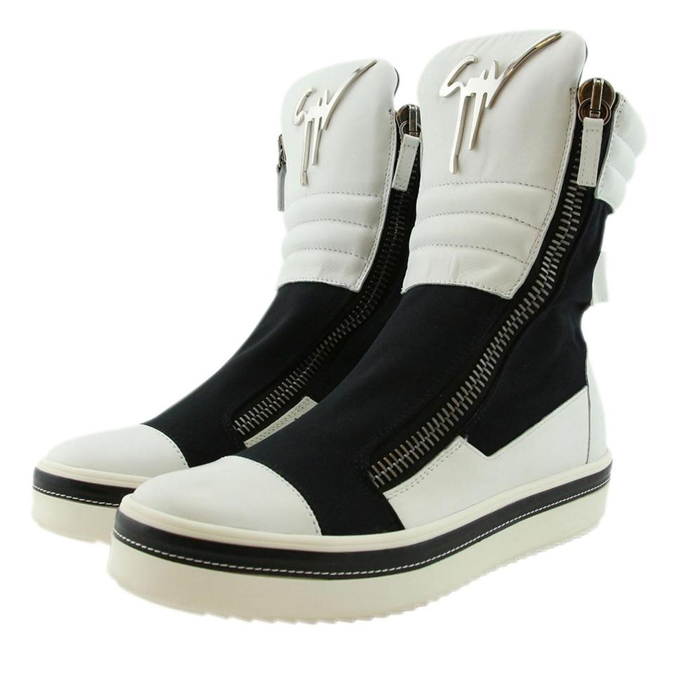 5d4af5352fe44 Giuseppe Zanotti Men Boots Sneakers High-top Sneaker Sneaker White Athletic  Image 8. 123456789